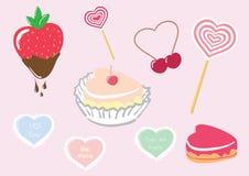 Jogo dos doces do dia do Valentim Ilustração do Vetor