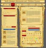 Jogo dos elementos do projeto de Web Fotografia de Stock Royalty Free