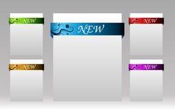 Jogo dos elementos para artigos novos no eshop ou sobre Imagem de Stock Royalty Free