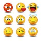 Jogo dos emoticons Fotografia de Stock