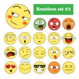 Jogo dos emoticons Fotografia de Stock Royalty Free