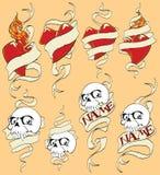 Jogo dos esboços para tatuagens ilustração do vetor