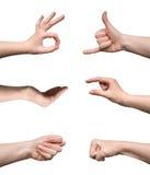 Jogo dos gestos Foto de Stock Royalty Free