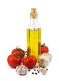 Jogo dos ingredientes e da especiaria para o cozimento do alimento Imagem de Stock