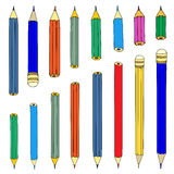 Jogo dos lápis Foto de Stock Royalty Free