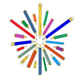 Jogo dos lápis Imagem de Stock Royalty Free