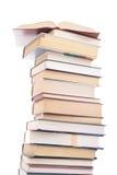 Jogo dos livros isolados em um branco Fotografia de Stock Royalty Free