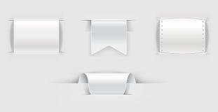 Jogo dos llabels de papel Fotografia de Stock Royalty Free