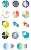 Jogo dos logotipos com base em um círculo Imagens de Stock Royalty Free