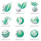 Jogo dos logotipos da natureza Fotografia de Stock