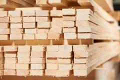 Jogo dos materiais de madeira da madeira serrada Fotos de Stock