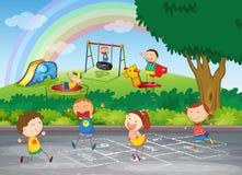 Jogo dos miúdos ilustração do vetor