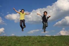 Jogo dos miúdos Foto de Stock Royalty Free