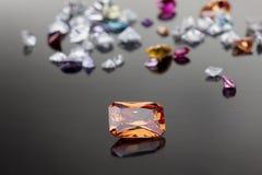 Jogo dos muitos gemstone diferente Imagem de Stock Royalty Free