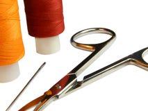Jogo dos objetos para o needlework Fotografia de Stock