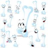 Jogo dos ossos dos desenhos animados Fotos de Stock