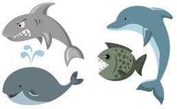 Jogo dos peixes ilustração do vetor