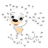 Jogo dos pontos, o cão ilustração stock