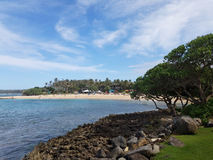 Jogo dos povos na praia da angra de Kuilima Fotografia de Stock Royalty Free