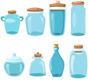 Jogo dos produtos vidreiros Imagem de Stock Royalty Free