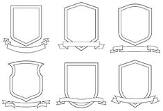 Jogo dos revestimentos de braços (vetor) Imagens de Stock Royalty Free