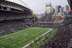 Jogo dos Seattle Seahawks fotografia de stock royalty free
