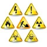 Jogo dos sinais de aviso Imagem de Stock Royalty Free