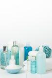 Jogo dos termas Champô, barra do sabão e líquido Gel do chuveiro Aromaterapia Foto de Stock Royalty Free