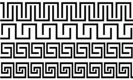 Jogo dos testes padrões no estilo grego ilustração stock