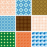 Jogo dos testes padrões - texturas geométricas do vetor Imagens de Stock