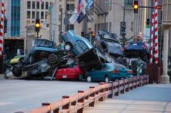 Jogo dos transformadores 3 em Chicago da baixa, IL imagem de stock