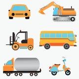 Jogo dos veículos - carro, barramento, trator Ilustração Stock