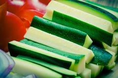 Jogo dos vegetais Foco seletivo toned Fotografia de Stock Royalty Free