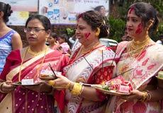 Jogo dos vermelhões (khela de Sindur) Foto de Stock