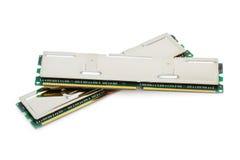 Jogo Dual-Channel da memória (isolado no branco) Foto de Stock