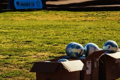 Jogo e futebol justos imagens de stock royalty free