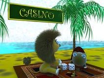 Jogo e a tartaruga do leão Fotos de Stock