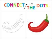 Jogo educacional das crianças s para habilidades de motor Conecte a imagem dos pontos Imagem de Stock Royalty Free