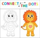 Jogo educacional do ` s das crianças para habilidades de motor Conecte a imagem dos pontos Para crianças da idade pré-escolar Cír Fotos de Stock