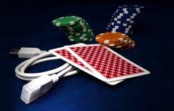 Jogo em linha Fotografia de Stock