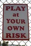 Jogo em seu próprio risco Fotos de Stock Royalty Free