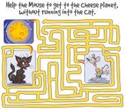 Jogo engraçado do labirinto Fotografia de Stock Royalty Free