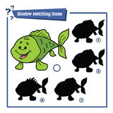 Jogo engraçado dos peixes da sombra Fotografia de Stock