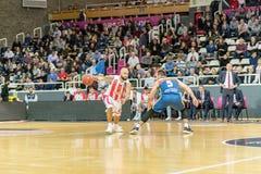 Jogo entre Morabanc Andorra BC e Crvena Zvezda MTS Belgrado fotografia de stock