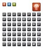 Jogo escuro do ícone Imagem de Stock