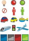 Jogo excelente dos ícones - transporte ilustração do vetor