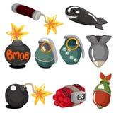 Jogo explosivo do ícone dos desenhos animados Fotos de Stock Royalty Free