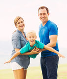 Jogo feliz da família Fotografia de Stock