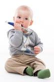 Jogo feliz do rapaz pequeno Imagem de Stock