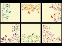 Jogo floral do fundo ilustração do vetor